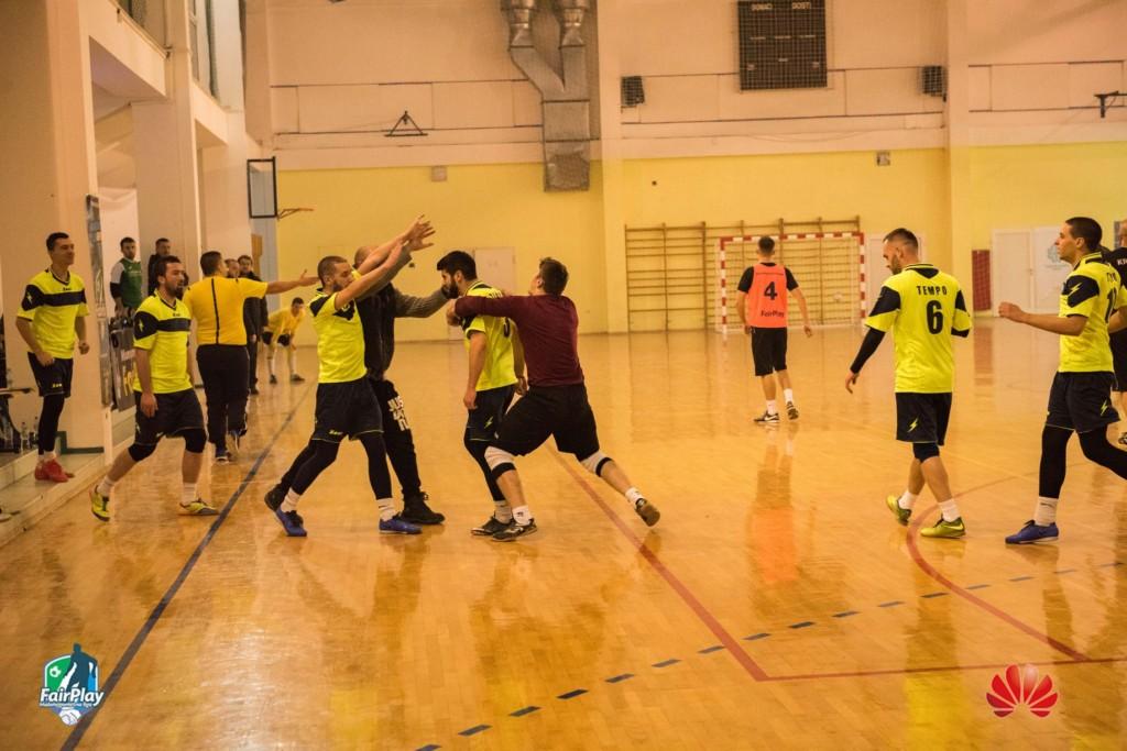 Slavlje ekipe nakon pobjede protiv Krajine